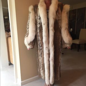 Jackets & Blazers - Full Length Vintage Lynx Fur Coat